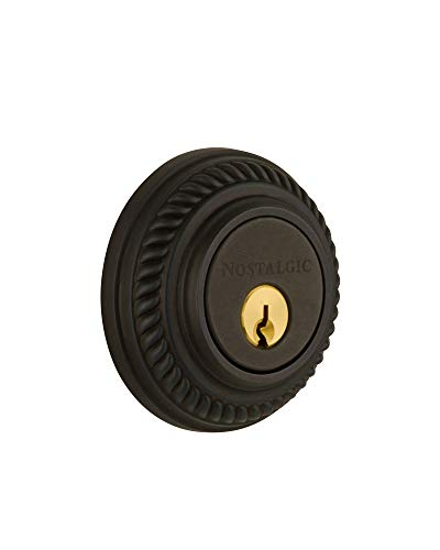 (Nostalgic Warehouse 719204 Rope Solid Brass Double Cylinder Deadbolt with 2-3/4