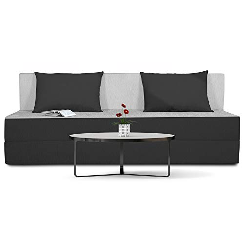 Adorn india Easy Three Seater Sofa Cum Bed (2 Years Warrenty Quality Foam)-Perfect for Seat & Sleep Washeble Polyster…