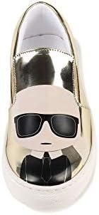 Karl Lagerfeld Kids Slip-on en Cuir à imprimé Enfant Light Gold 31