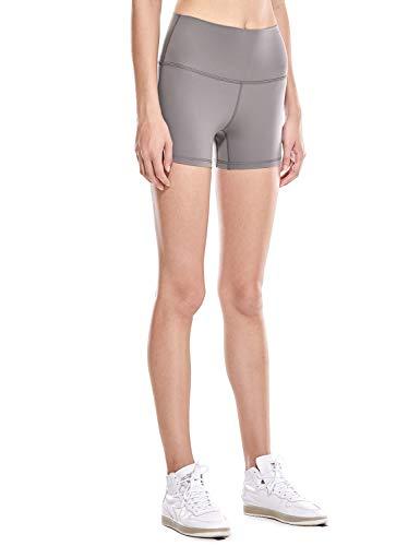 CRZ YOGA Women's Naked Feeling II High Waist Tummy Control Sports Workout Yoga Shorts-4 Inches Lunar Rock XXS(00) (Lunar Rock)