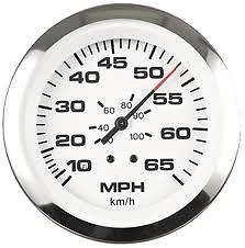 Sierra International 65510P Lido Pitot Type 10 to 65 Mph Dial Range Scratch Resistant Speedometer Kit, 3'' by Sierra International