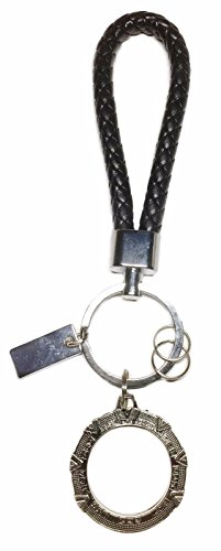 Stargate TV Series SG-1 Pewter Logo Metal KEYCHAIN W/ Leather Loop