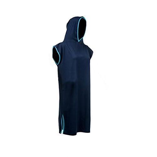 Tuuli Adulte Unisex Coton Capuche Poncho Robe de Plage été Peignoir Serviette Bain Surf Kite Beach