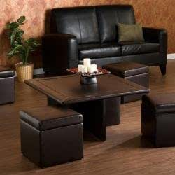 Harper Blvd Crestfield Dark Brown Coffee Table Storage Ottoman Set Amazon Ca Home Kitchen
