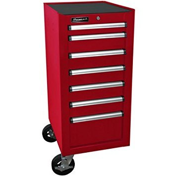 (Homak Mfg. Co, RD08018070 H2Pro Series 7 Drawer Side Cabinet, Red, 18