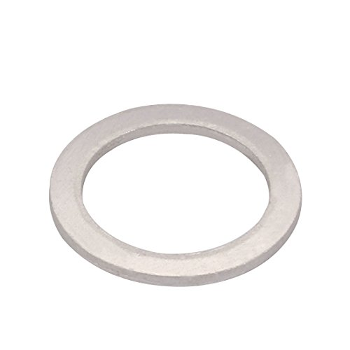 uxcell 200Pcs 18mmx24mmx1.5mm Aluminum Motorcycle Hardware Drain Plug Washer by uxcell (Image #2)