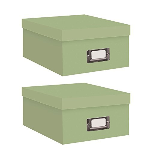 Pioneer Photo Albums Photo Storage Box (Sage Green/Two Count)