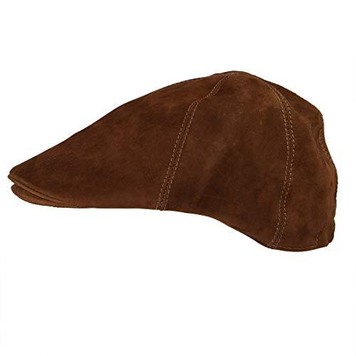 Hide & Drink Men's Vintage Leather Driver's Cap/Old School Hat Handmade Swayze Suede