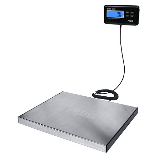 American Weigh Scale Ship Series Digital Heavy Duty Shipping Postal Scale, Stainless Steel, 330lbs X 0.1lbs (AMW-SHIP330)