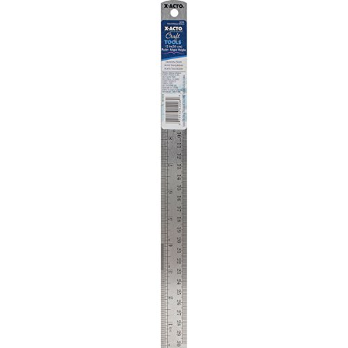 X-ACTO X2006W24 Designer Series Decorative Metal Ruler, 12-Inch (Decorative Ruler Edge)