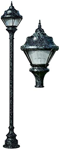 - DABMAR LIGHTING GM9000-VG-MT Cast Aluminum Post Fixture with Decorative Base Fixture 70 Watt High Pressure Sodium Multi-Tap, Verde Green
