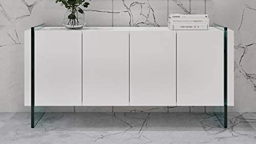 Zuri Furniture Art White High Gloss Cabinet
