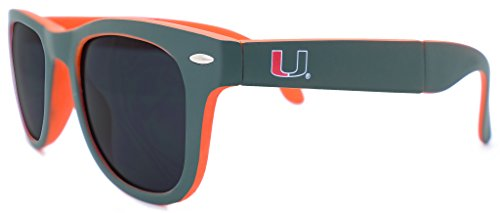 Hurricane Spring (NCAA Miami Hurricanes Game Day Sunglasses with Microfiber Carrying Case/Pouch - Fully Folding)