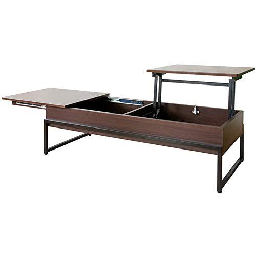 宮武製作所 天板昇降テーブル ブラウン 幅120×奥行き50×高さ37cm(昇降時:65cm) CT-L1250 B07G2JF4QM ブラウン