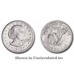 One roll of Twenty [20] UNCIRCULATED 1979-D Susan B. Anthony Dollars