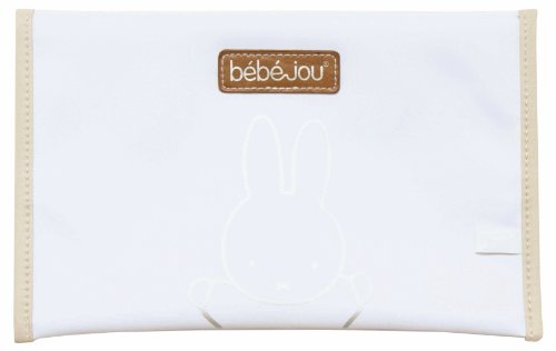 Bébé-Jou - Funda blanda para pañales, diseño de conejo, color blanco y beige