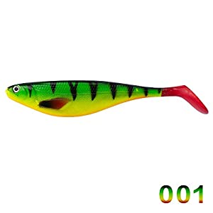 Pike Shad lures Paddle Tail 17cm