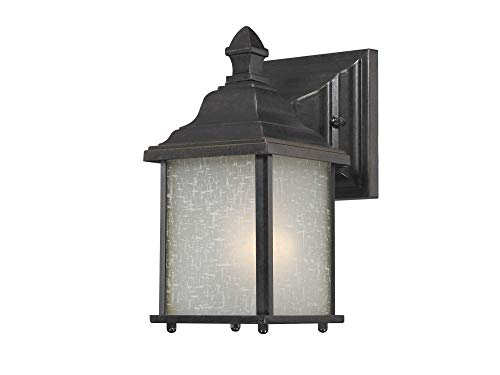 (Dolan Designs 930-68 Charleston - One Light Outdoor Wall Sconce, Winchester Finish with White Linen Glass )
