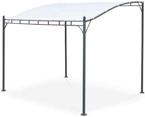 Jet-line - Pérgola para jardín y terraza, color beige, 3 x 2, 5 m, con techo, protección UV, protección solar ...