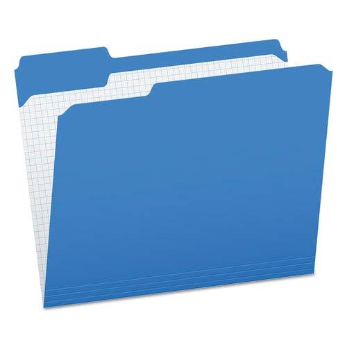 Reinforced Top Tab File Folders, 1/3 Cut, Letter, Blue, 100/Box, Sold as 100 Each