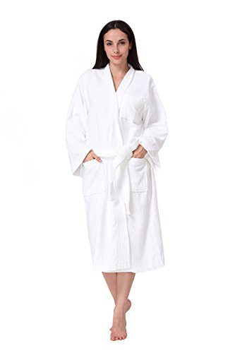 Acanva Womens Cotton Kimono Bathrobe
