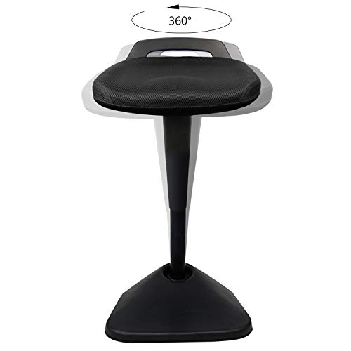 AIMEZO Sit Stand Desk Stool - 360° Swivel Seat Standing Desk Chair with Adjustable Height Active Sitting Balance Chair by AIMEZO (Image #4)