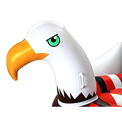 Swimline Inflatable Giant American Bald Eagle Float & Giant Baseball Glove Float: Toys & Games