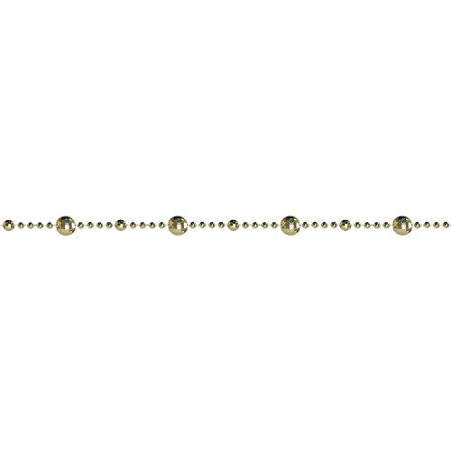 St. Nicks Choice 15' Shiny Golden Mirrored Disco Ball Beaded Christmas Garland