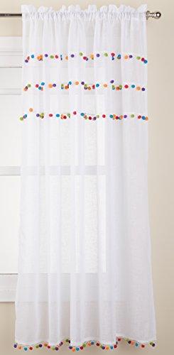Achim Home Furnishings Achim Home Imports Pom Rod Pocket Window Curtain Panel, 52