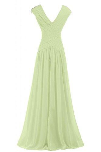 Sunvary romantico con scollo a V pieghe vestito da sera abiti da damigella d' onore per feste spettacolo vestiti