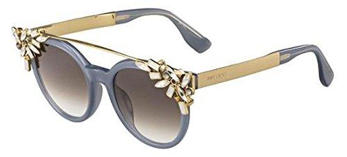 Jimmy Choo Vivy/S PR7 Opal/Grey/Gold Vivy/S Round Sunglasses Lens ()