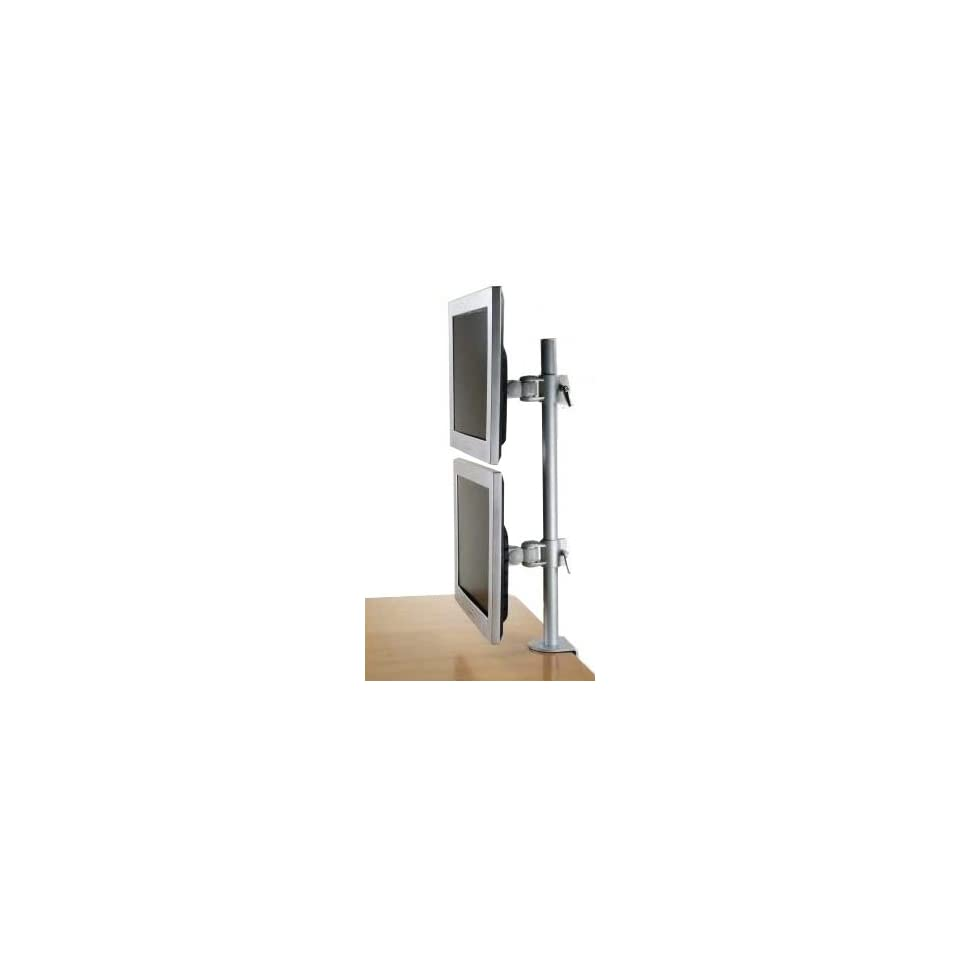 MonMount LCD 196A Vertical Dual LCD Monitor Desk Mount Stand