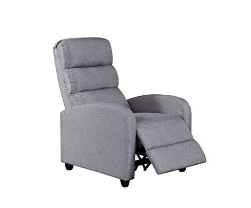 Linnea Class Recliner Accent Armchair – Grey Fabric