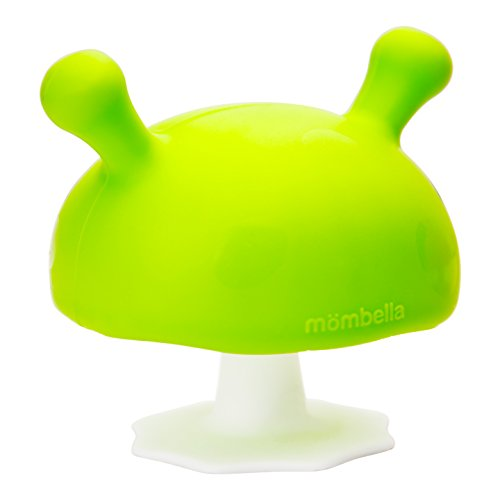 Rubber Mushroom - Safety 1st featuring Mombella Mimi Mushroom Teether, Green, Small