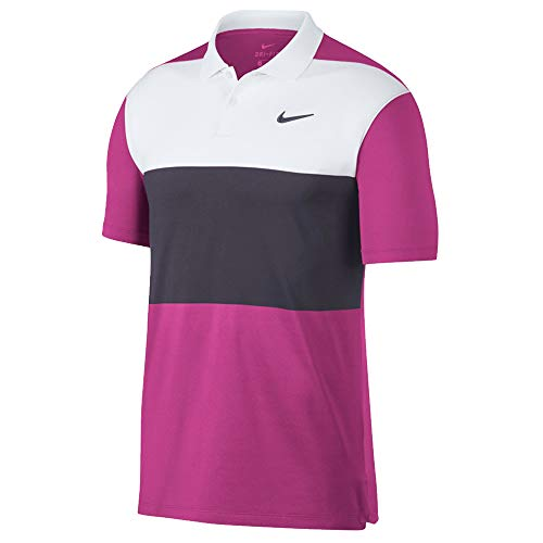 Nike Dri Fit Vapor CB Golf Polo 2019 Active Fuchsia/White/Gridiron for sale  Delivered anywhere in Canada