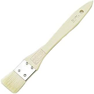 アサヒハケ 金巻ソース刷毛 白毛 30mm H-1052