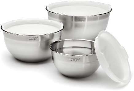 Set of 3 Tovolo Stainless Steel Mixing Bowls with Lids