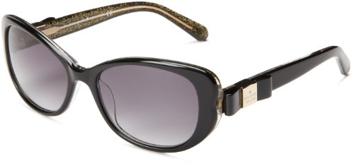 Kate Spade Women's Chands Cat-Eye Sunglasses,Black Glitter,53 - Spade Eye Case Kate