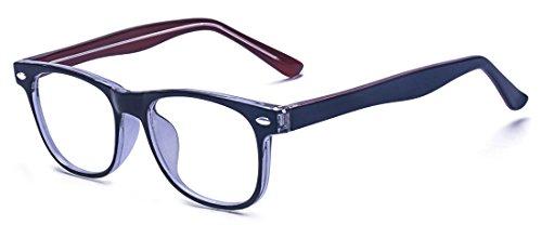 383e909864 ALWAYSUV Blue Light Computer Reading Gaming Blocking Glasses Anti-Radiation Transparent  Lens Eyewear For Kids Teens