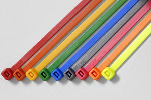 """14-9/16"""" Blue Color Cable Ties w/ 50 lbs Tensile Strength  -"""