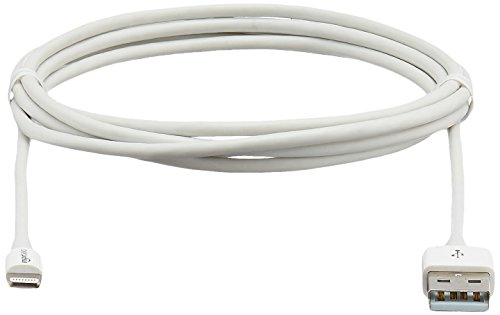 AmazonBasics Lightning to USB A Cable - Apple MFi Certified - White - 6 Feet /1.8 Meters