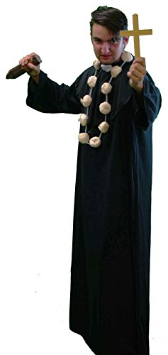 Vampire Slayer Halloween Costumes (Halloween-Panto-Stage-Religious VAMPIRE SLAYER Men's Fancy Dress Costume - From Sizes Small-4XL (LARGE))