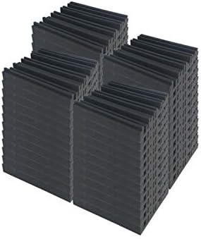 Super Dash 48 ピース 300 x 300 x 50 mm 黒 アコースティック防音メトロディフューザーフォームスタジオウォールパネルタイル SD1168