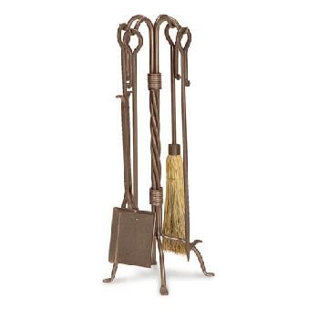 Traditional 5 Piece Fireplace Tool Set Finish: Burnished Bronze
