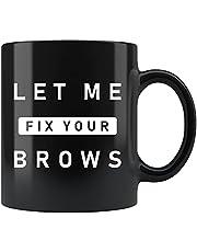 Make-up Artist Cadeau, Make-up Artist Mok, Brow Specialist Gift, Schoonheidsspecialiste Gift, Schoonheidsspecialist Mok, Schoonheidsspecialist Gift, Fix Your Brows #c1488