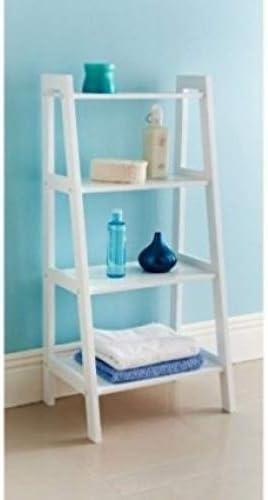 Distintivo estilo New England Maine blanco escalera Estantería Baño unidad de almacenamiento nuevo pajee TM: Amazon.es: Bebé