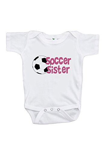 Custom Party Shop Baby Girl's Soccer Sister Onepiece 12-18 Months Pink and (16 Soccer Team Polyester)