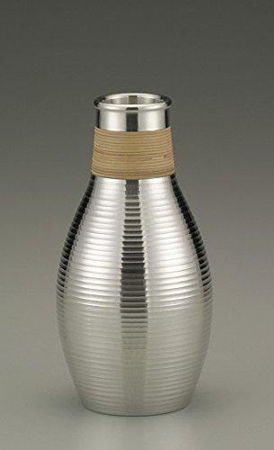 Osaka Naniwa Suzuki,Japanese traditional Pure Tin Sake Serving Bottle, 11-6:Chirori AZUMAGATA 210ml by Osaka Naniwa Suzuki