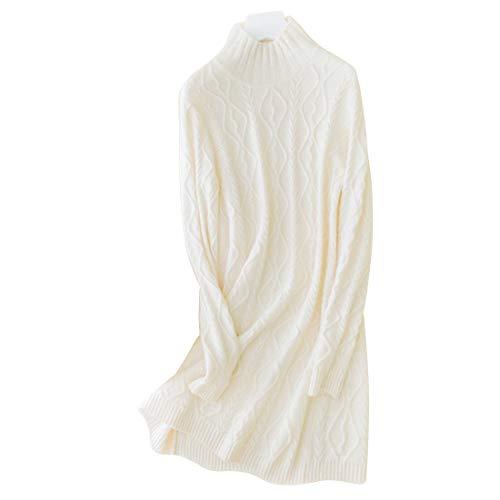 Size Size Size Donna Maglia Maglia Maglia con Alto Alto da Collo Collo e White Color Donna M da Uzanesx White aRTxqOq
