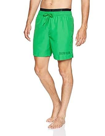Calvin Klein Men's Double Waistband Short, Bright Green, S